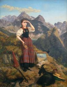 SELBSTPORTRAIT IN DEN LECHTALER ALPEN 1869_1000